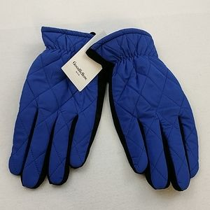 GOODFELLOW &CO Quilted Blue Gloves NWT